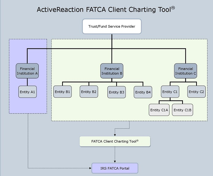 Screenshot of FATCA registration diagram